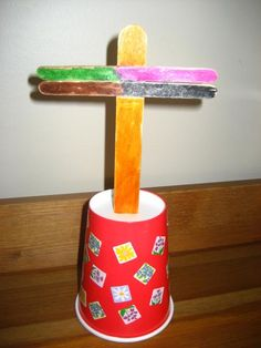 Simple Cross Craft for Easter.