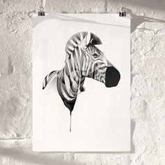 Zebra 01 Limited Edition Giclee Print — Only 4 Left by HelloVon...