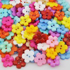 100pcs Mix New Plum 14mm 2holes Plastic Button/Sewing lots PT70