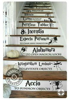 Harry potter stair stickers