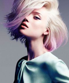 #pastel #ombre on #whiteblonde hair: is this the ultimate trend?  marieclaire australia june 2012