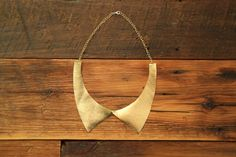 diy gold collar necklace