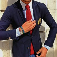 Today I'm Wearing Blazer from Rugby by Ralph Lauren Oxford shirt from Ralph Lauren Knitted silk tie from Harrods of London Bracelets by StilKompaniet Reverso watch by...
