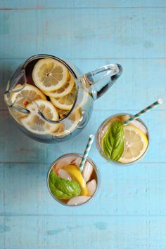 SWEET BASIL LEMON ICED TEA Ingredients: • 2 tea bags • 2 liters water + 1 cup of water (divided) • zest of 1 whole lemon (save the juice and add later if desired) • 1 cup fresh basil leaves, roughly chopped • 1 cup sugar or stevia  chapterfriday
