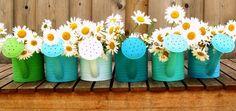 Watering can garden. Cute idea