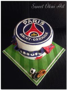 PSG Soccer Cake   / 2016.04.23 - Gâteau d'anniversaire au 3 chocolats -