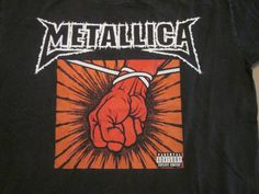 Metallica- St Anger Parental Advisory Band Shirt Mens Size Large Buy It Now