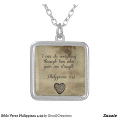 Bible Verse Philippians 4 13 Silver Plated Necklace #bible #verse #philippians #4 #13 #silver #plated #necklace