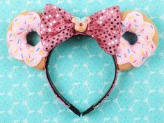Doughnut Mouse Ear Headband with Bow