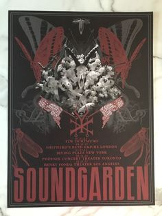 """Beautiful poster from a 2012 tour. Not perfect, but very close. This has been stored flat for years and never displayed. Measures approximately 18"""" x 24"""". I acquired this poster, along with several others that I'll be listing, from somebody who worked on the tour, so it is 100% authentic. Will be shipped rolled in a shipping tube. Feel free to message me with any questions. Hopefully the pictures speak for themselves. Bid with confidence! 