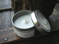 Sage Herbal Soy Candle Travel Tin 6 oz by DewOnAPetal on Etsy, $8.00