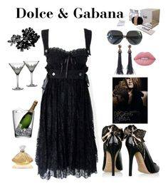 """Dolce and Gabana"" by kotnourka ❤ liked on Polyvore featuring Oscar de la Renta, Dolce&Gabbana, Lime Crime, Waterford, LSA International and Lalique"