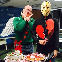 Cupid and Jason. #Valentines and #Fridaythe13th