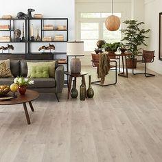 White Oak Laminate Flooring, Waterproof Laminate Flooring, Natural Wood Flooring, How To Waterproof Wood, Furniture Styles, Wood Planks, Loft, Home Decor, Floors