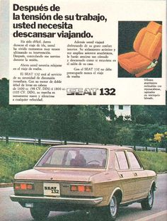 The SEAT The Spanish version of the Fiat of the same name Seat 1430, Car Brochure, Italy Spain, Car Advertising, Old Cars, Fiat, Cars And Motorcycles, Cars For Sale, Vintage Cars