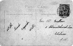 Titanic Postcard sent by William Mellors - Southampton. Back