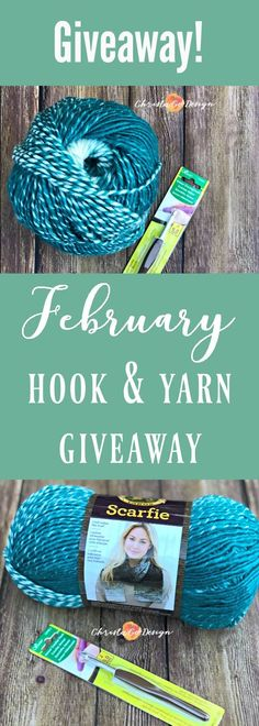 February hook and yarn giveaway, ends 2-13-18, scarfie yarn, clover amour hook, giveaway, yarn giveaway, crochet giveaway, crochet hook giveaway, hook giveaway