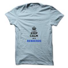 Awesome Tee I cant keep calm Im a RENDEROS T shirts