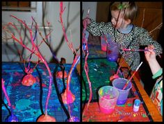 Turn ordinary sticks into a glittery stick forest - fun, easy and cheap too!!! kid-blogger-network-activities-crafts
