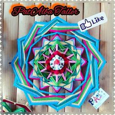 #PatAlbaTaller #mandalas #tejidos #energiaspositivas #artesania #diseñodeautor…