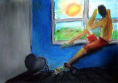 #janela #quarto #room #blue #pastel