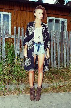 Diy Kimono, Stylowe Buty Boots