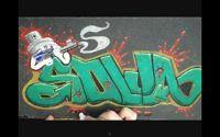 Este video mostra como fazer um trampo legal com Graffiti no seu shape na lixa ou ate mesmo se quiser estampar a parte de baixo do seu shape