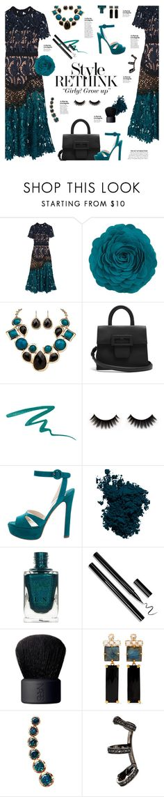 """Teal Love"" by happilyjynxed ❤ liked on Polyvore featuring self-portrait, Palm Beach Jewelry, Maison Margiela, Vincent Longo, Prada, Laura Mercier, NARS Cosmetics, Bounkit, Annoushka and Repossi"