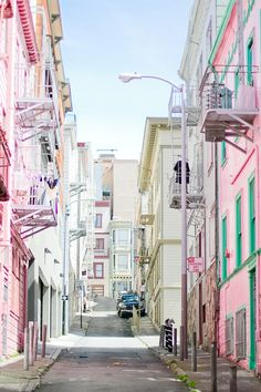 Hidden gem in San Francisco. travelingcolors: Pastel colors of San Francisco   California (by Anne-Solange Tardy)