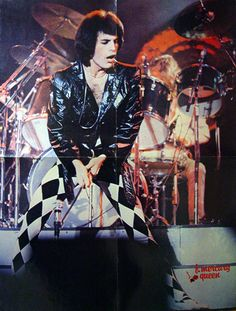 Freddie Mercury pin-up poster from 1977