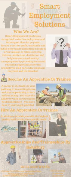 Smart Employment Solutions for 30 years is the established leader in employment and training services, mature age apprenticeship, apprenticeships, Brisbane.