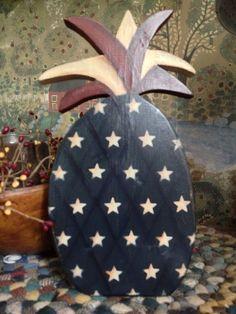 Primitive Americana Pineapple Shelf Sitter on Etsy, $12.00