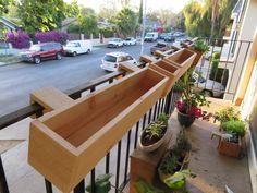 Balcony Rail Planter Box Balcony – home accessories Balcony Planters, Small Balcony Garden, Small Balcony Decor, Small Patio, Deck Railing Planters, Balcony Herb Gardens, Concrete Planters, Wall Gardens, Wall Planters