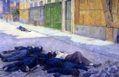 A Paris Street in May 1871 - Maximilien Luce - The Athenaeum