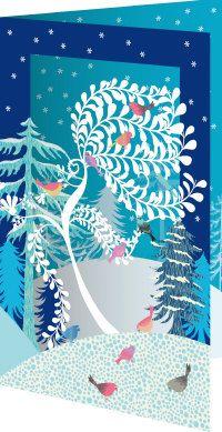 Roger la Borde | Festive Critters Notecard Pack (5 lasercut cards)