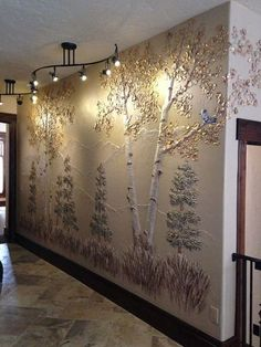 Sculpted Relief Murals - *Murals *Sculpted Relief on Walls *Decorative Finishes *ArtTransforming Walls IncNorling Wakeman Studios Plaster Art, Plaster Walls, Mural Wall Art, 3d Wall, Sculpture Painting, Wall Sculptures, Wall Treatments, Cool Lighting, Wall Design