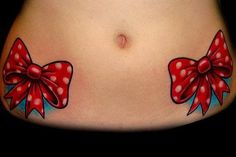Beautiful, bright Polka dot bows Tattoos I would never do this, personally, but I do love the idea