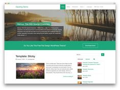 WP themes that work best with woocommerce >> dazzling flat design theme