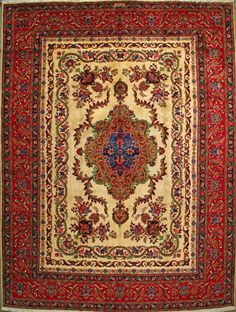 "Tabriz Persian Rug, Buy Handmade Tabriz Persian Rug 9' 11"" x 13' 3"", Authentic Persian Rug"