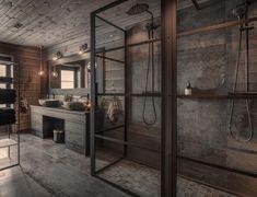 """Oj Design & Interiør on Instagram: """"God kveld alle sammen! Hva synes dere om dette badet? Litt stille fra oss for tiden, men det skyldes travle dager. Vi rakk heldigvis å…"""" Loft Interior Design, Loft Design, Deco Design, Bathroom Interior Design, Villa Design, House Design, Cabin Interiors, Tiny House Cabin, Decoration Design"""