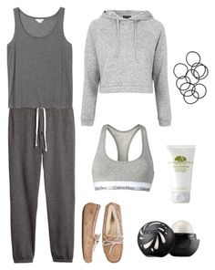 """#2"" by dtftyguyhiujlnjb ❤ liked on Polyvore featuring Calvin Klein, H&M, Monki, Origins, UGG Australia, Topshop and Eos"