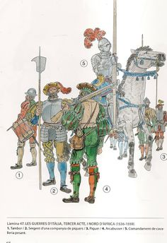 Western European Soldiers in Early -Mid Century, Italy and North Africa Medieval Armor, Medieval Fantasy, Military Art, Military History, Knight Drawing, Terra Nova, Early Modern Period, Holy Roman Empire, Landsknecht