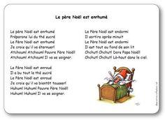 Paroles de la chanson Le père Noël est enrhumé : Préparons lui du thé sucré, Le Père Noël est enrhumé, Je crois qu'il va éternuer! Atchoum! Atchoum!