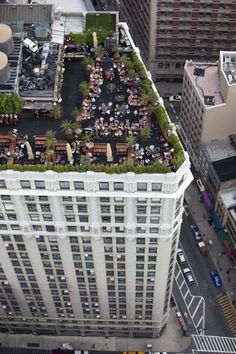 New York Rooftop Gardens by Alex MacLean