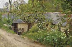 The cabin, Lamorna by Thomas Cooper Gotch - Art Renewal Center Dante Gabriel Rossetti, William Morris, John Everett Millais, Pre Raphaelite Brotherhood, Art Thomas, School Painting, Vintage Artwork, Landscape Art, Surrealism