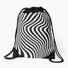 New T Shirt Design, Shirt Designs, Backpack Bags, Drawstring Backpack, Zig Zag, Woven Fabric, Backpacks, Printed