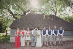 bridal party. alternative wedding photography by www.philippajamesphotography.com