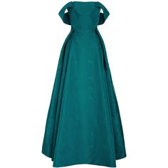Zac Posen     Off the Shoulder Moire Ottoman Gown ($9,990) ❤ liked on Polyvore featuring dresses, gowns, long dress, evening gown, zac posen, blue, off shoulder long dress, long dresses, long sleeve evening dresses and blue dress
