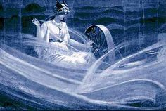 Frigg Spinning (1909) by the British painter John Charles Dollman (1851-1934).
