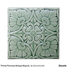 We can re-created these antique Art Nouveau, Art Deco and Victorian relief ceramic tiles for you. You get the three dimensional look of the original collector relief tiles but on a flat smooth surface satin finish tile. Ceramic Tile Art, Clay Tiles, Mosaic Tiles, Art Tiles, Tiling, Antique Tiles, Vintage Tile, Antique Art, Vintage Room